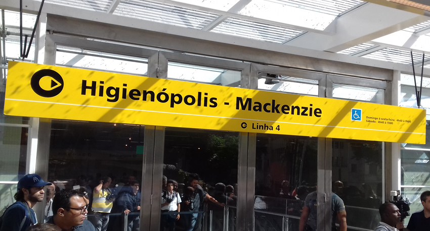 Inaugurada a estação Higienópolis-Mackenzie da Linha 4-Amarela