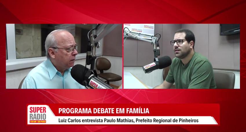 Entrevista com Paulo Mathias, Prefeito Regional de Pinheiros